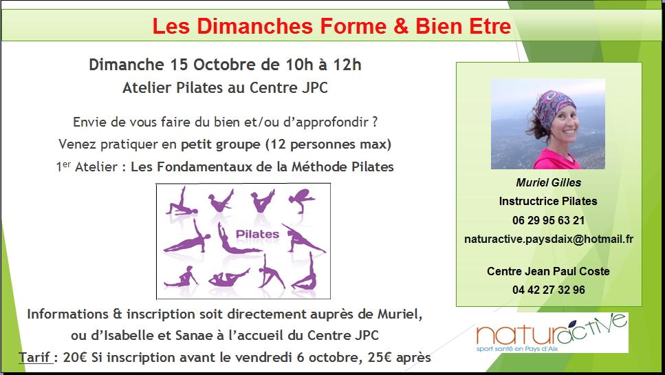 1er Atelier Pilates 15 oct 2017